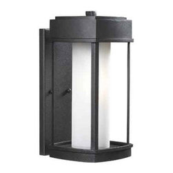 """Kenroy Home - Kenroy Home 92003 1 Light 15.375"""" Height Outdoor Wall Sconce - 1 Light 15.375"""" Height Outdoor Wall Sconce with Ceramic Sockets from the Sentinel CollectionCrisp and Asian-inspired, this family of lanterns makes a great choice for lovers of modern design. Finished in Copper Bronze, with Opal White glass, Sentinel offers an inviting gateway to a contemporary home.Features:"""
