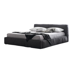 Rossetto - Rossetto Twist Platform Bed 4 Piece Bedroom Set in Dark Grey - Rossetto - Bedroom Sets - T4116013X5G97TwistBed4PcPKG - Rossetto Twist Low Profile Platform Bed in Dark Grey (included quantity: 1) Rossetto Twist Dark Grey Platform Bed is padded with high resilience foam. This upholstered low profile bed provides superior comfort. It is beautifully crafted directly from Italy which promises something special for every room in your home.  Features: