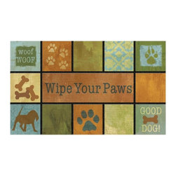 BuyMATS Inc. - Wipe Your Paws Entry MAT - •Exciting full color design Indoor/Oudoor Entry MAT with built in channels provide high fashion appeal.