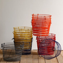 Potato Basket - I have bins everywhere. I love these wire baskets, and they let me pick a color for each family member.