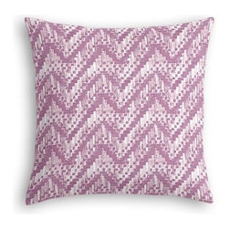 Purple Watercolor Zig Zag Custom Euro Sham - The secret to those perfectly made beds you eye in magazines? Euro shams. Complete your bed set with a set of Simple Euro Shams for a look that's as stylish as it is snuggly.  We love it in this orchid purple and white stepped zig zag print with a modern, yet soft and subtle look.