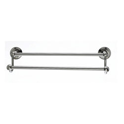 "Top Knobs Hardware - Edwardian Bath 18"" Double Towel Rod - Smooth Back Plate - Length - 20 1/2"""