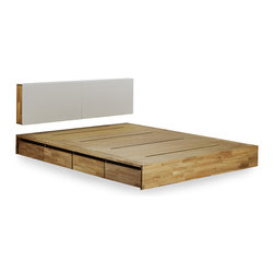 MASHstudios - MASHstudios LAX Storage Platform Bed - Marriage of Form and Function. Lose the clunky under-the-bed storage containers and replace them with this impressive and stunning alternative. With 8 large rolling drawers, the Storage Platform is sure to give your closet or dresser some breathing room. Pair it with the LAX headboard for the perfect storage combination.