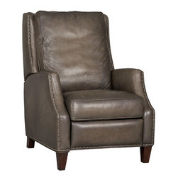 Hooker Furniture - Hooker Furniture Sarzana Castle G/S Recliner - Developed by one of America's premier manufacturers to offer quality furniture at affordable prices. Each piece is meticulously hand-crafted using the most exquisite leathers in the world. The Sarzana Castle G/S Recliner is crafted using Sarzana Castle G/S (Slate Grey/Green) leather.