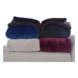 Eddie Bauer - Eddie Bauer Premium Fleece Reversible Throw - 201352 - Shop for Throws from Hayneedle.com! Cozy up during the cold weather with the versatile warm Eddie Bauer Premium Fleece Reversible Throw. This plush fleece quilted throw has a brown Sherpa reverse sure to warm you on the coldest of nights. Available in your choice of colors this comforting throw is also machine washable for your convenience and features a large geometric shape that can fit any bed or couch. It functions as a warm cuddly blanket but also looks great as an accent piece.About Eddie BauerSince Eddie Bauer himself strung the first racket in Eddie Bauer s Tennis Shop in 1920 the company s work ethic has always been based on innovative design and exceptional customer service. Now a household name Eddie Bauer is more than sports goods - it s premium-quality gear accessories and clothing designed to complement the lives of those who love outdoor pursuits. Eddie Bauer s home collection proves the company s rugged athletic spirit can be just as rewarding indoors too.
