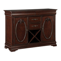 Standard Furniture - Standard Furniture Westchester 52 Inch Server in Cherry - Westchester Dining offers an updated formal setting with its grand traditional styling, beautiful carvings and veneer patterned surfaces.