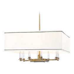 Hudson Valley Lighting - Hudson Valley Lighting Collins Aged Brass 8-Light Chandelier - Hudson Valley Lighting 2924-AGB Collins Aged Brass 8 Light Chandelier