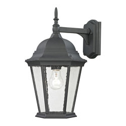 Cornerstone - Cornerstone Temple Hill 8101EW/65 Coach Lantern Medium in Matte Texetured Black - 8101EW/65 Coach Lantern Medium in Matte Texetured Black belongs to Temple Hill Collection by Cornerstone Outdoor Wall Sconce (1)