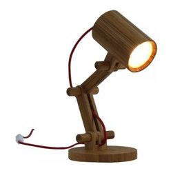 ParrotUncle - Fashion Design Adjustable Bamboo LED Desk Lamp - Fashion Design Adjustable Bamboo LED Desk Lamp
