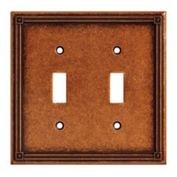 Liberty Hardware - Liberty Hardware 135765 Ruston WP Collection 4.96 Inch Switch Plate - Sponged Co - A simple change can make a huge impact on the look and feel of any room. Change out your old wall plates and give any room a brand new feel. Experience the look of a quality Liberty Hardware wall plate.. Width - 4.96 Inch,Height - 4.9 Inch,Projection - 0.2 Inch,Finish - Sponged Copper,Weight - 0.5 Lbs