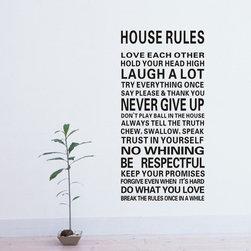 ColorfulHall Co., LTD - Family Wall Saying DIY House Rule Love Each Other - Family Wall Saying DIY House Rule Love Each Other