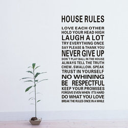 ColorfulHall Co., LTD - Family Wall Saying DIY House Rule Love Each Other - Family Wall Saying DIY House Rule Love Each Other