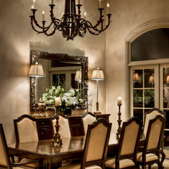 traditional dining room by Dean J.Birinyi