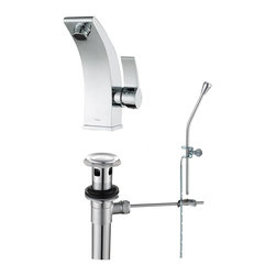 Kraus - Kraus KEF-14701BN Illusio Single Lever Basin Faucet, Chrome, 6.9 X 3.8 X 4.3 - Perfection, precision and style may seem as an Illusion in real life.  At Kraus, Illusion may just be your reality