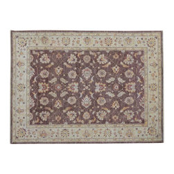 1800-Get-A-Rug - Ziegler Mahal Oriental Rug 100% Wool Stone Wash Hand Knotted Rug Sh9174 - Oushak stands for the western Anatolian Turkish city, known for its rare collectible rugs made during the Ottoman Empire. Today we are recreating these historical carpets, in the centuries-old hand weaving techniques, the same fantastic designs in a variety of colors to fit today's decor and taste using natural dyes and hand spun wool. Ziegler stands for Ziegler and company, German based oriental rug importer which operated between 1880-1920. They originally produced and imported these precious carpets in the Mahal region in Iran, specifing to the locals the German and European taste.