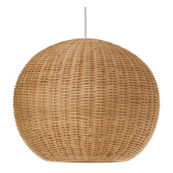 Kouboo - Wicker Ball Pendant Light, Natural - Add a little natural light to your interiors with this pendant. Made entirely of wicker, it diffuses the light for a warm, ambient glow.