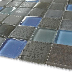 GlassTileStore - Sample-Flyway Glass and Stone Tile Sample - Sample-Flyway Glass and Stone Tile Sample   Samples are intended for color comparison purposes, not installation purposes.    -Glass Tiles -