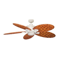 """DECORATIVE FANS - DECORATIVE FANS Crystal Bay 52"""" Indoor / Outdoor Transitional Ceiling Fan X-WNS2 - From the Crystal Bay Collection, this Kichler Lighting outdoor ceiling fan blends traditional influencing with tasteful island style. The fan blades are perfectly complimented by the clean Satin Natural White Powder Coat finish."""