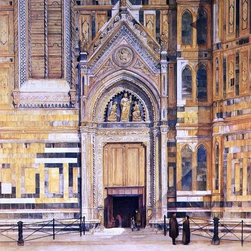 """Henry Roderick Newman The South Door of the Duomo   Print - 16"""" x 20"""" Henry Roderick Newman The South Door of the Duomo premium archival print reproduced to meet museum quality standards. Our museum quality archival prints are produced using high-precision print technology for a more accurate reproduction printed on high quality, heavyweight matte presentation paper with fade-resistant, archival inks. Our progressive business model allows us to offer works of art to you at the best wholesale pricing, significantly less than art gallery prices, affordable to all. This line of artwork is produced with extra white border space (if you choose to have it framed, for your framer to work with to frame properly or utilize a larger mat and/or frame).  We present a comprehensive collection of exceptional art reproductions byHenry Roderick Newman."""