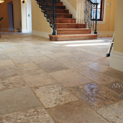 Antique Biblical Limestone Reclaimed Stone Flooring Pavers - Image provided by 'Ancient Surfaces'