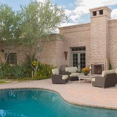 Traditional Pool by Linda Robinson Design Associates