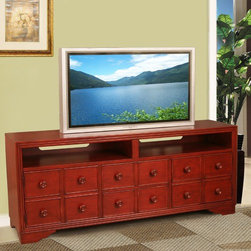 """Lifestyle California - Somerset TV Stand - Features: -Two doors and two shelves and two drawers.-Constructed of poplar wood and birch veneer.-Distressed finish.-Somerset collection.-Recommended TV Type: Flat screen.-Material: Solid poplar wood and birch veneer.-Solid Wood Construction: No.-Distressed: Yes.-Exterior Shelves: No.-Drawers (Size: 54""""): Yes.-Drawers (Size: 64""""): Yes.-Drawers (Size: 44""""): No-Number of Drawers: 2.-Number of Drawers: 2.-Drawer Handle Design: Knob.-Drawer Handle Design: Knob..-Casters: No.-Accommodates Fireplace: No.-Fireplace Included: No.-Media Player Storage: Yes.-Remote Control Included: No.-Batteries Required: No.-Commercial Use: No.-Collection: Somerset.-Lift Mechanism: No.-Expandable: No.-TV Swivel Base: No.-Integrated Flat Screen Mount: No.-Product Care: Use a soft cloth to wipe clean all wood parts. Do not place hot objects such as plates, glasses or pots directly on the surface. Use placemats. Never use harsh chemicals or abrasive cleaners as they could damage the finish..Dimensions: -Overall Height - Top to Bottom (Size: 54""""): 28"""".-Overall Height - Top to Bottom (Size: 64""""): 28"""".-Overall Height - Top to Bottom (Size: 44""""): 28"""".-Overall Width - Side to Side (Size: 54""""): 54.125"""".-Overall Width - Side to Side (Size: 64""""): 64.75"""".-Overall Width - Side to Side (Size: 44""""): 43.875"""".-Overall Depth - Front to Back (Size: 54""""): 16.5"""".-Overall Depth - Front to Back (Size: 64""""): 16.5"""".-Overall Depth - Front to Back (Size: 44""""): 16.5"""".-Drawer (Size: 54""""): Yes.-Drawer (Size: 64""""): Yes.-Drawer (Size: 44""""): No.-Overall Product Weight (Size: 54""""): 123 lbs.-Overall Product Weight (Size: 64""""): 148 lbs.-Overall Product Weight (Size: 44""""): 108 lbs.Assembly: -Assembly Required: No.Warranty: -Product Warranty: 1 year parts warranty."""