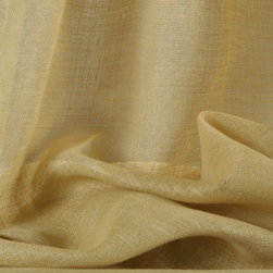 Linen Scrim Sheer Drapery Camel - 100% Belgian Linen Scrim Sheer Discount Drapery in Camel Brown. Open spaced weave ideal for drapes, curtains, and other window treatments or bed canopy.