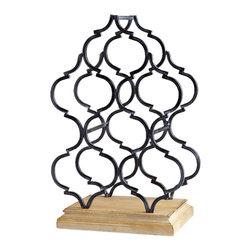 Cyan Design - Marrakech Tower Wine Rack - Marrakech tower wine rack - oak and ebony