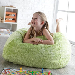 Ace Bayou - Ace Bayou Medium Chenille Lounger Bean Bag Chair - 9847401 - Shop for Beanbags from Hayneedle.com! What We Like About This Bean Bag ChairThe Ace Bayou Medium Chenille Lounger Bean Bag Chair is a larger version of our long-running customer favorite with overall rave reviews. The soft chenille fabric in fun bright colors makes it an ideal gift for children but adults can enjoy it too. Featuring a classic round design this bean bag chair is made to cradle its occupant in total cushiness. Filled with 6 cubic feet of beans the Small Chenille Lounger Bean Bag Chair is our coziest bean bag for kids. Your choice of color. Dimensions: 28 diam. x 28H inches. In accordance with the Consumer Product Safety Commission this bean bag features a resealable safety closure. The closure seals each zipper and protects children from the age of 12 and younger. For Best Use: While sitting in this bag please turn it up on its side so the seams run vertically not horizontally. If this is not done the bag will appear flat like a pancake. About Ace Bayou CorporationAce Bayou Corporation was founded in 1986 and has grown into a group of diverse lifestyle-focused divisions. They all feature innovative quality products at prices that allow everyone to enjoy the benefits. Their lifestyle furniture features youth and adult casual furniture including unique bean bags video rockers recliners and special seating products. As a recognized innovator in these categories Ace Bayou provides products that fit your lifestyle.