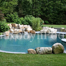 Traditional Pool by Rin Robyn Pools
