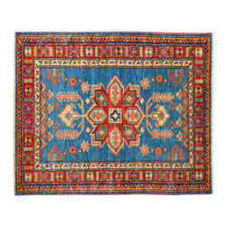 Super Kazak Hand Knotted Oriental Rug 3' x 4' 100% Wool Geometric Design SH15210 - This collections consists of well known classical southwestern designs like Kazaks, Serapis, Herizs, Mamluks, Kilims, and Bokaras. These tribal motifs are very popular down in the South and especially out west.