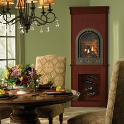 Heat & Glo Crescent II - The Crescent II brings warmth and luxury to corners and smaller spaces. Create a unique focal point with this distinctive shape and style.