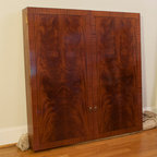 Mahogany White Board Cabinet -