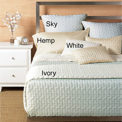 None - Rayon from Bamboo 3-piece Coverlet Set - Increase your comfort while you sleep with one of these rayon from bamboo coverlet sets. Each set includes a silky soft coverlet and two matching pillow shams,all featuring a stylish quilted brick pattern that will work well with your bedroom decor.