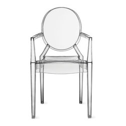 Kartell - Louis Ghost Armchair | Design Within Reach - This is a great conversation piece for the dining room. Fun and easy perfection.