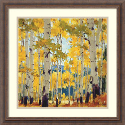 Amanti Art - September Aspen Framed Print by William Hook - Escape into an enchanting Aspen Wood in autumn with this enticing print by painter William Hook.