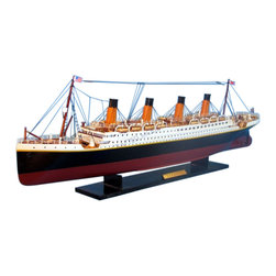 "Handcrafted Nautical Decor - RMS Titanic 32"" - Model Ship - Sold Fully Assembled Ready for Immediate Display -Not a Model Ship Kit"