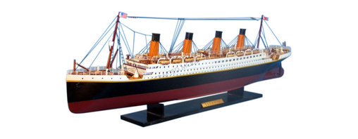 "Handcrafted Model Ships - RMS Titanic 32"" - Model Ship - Sold Fully Assembled Ready for Immediate Display -Not a Model Ship Kit"