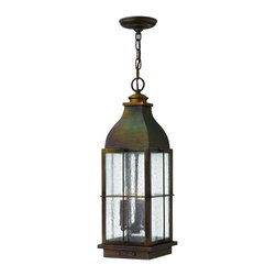 Hinkley Lighting - 2042SN Bingham Outdoor Hanging Lantern, Sienna, Clear Seedy Glass - Traditional Outdoor Hanging Lantern in Sienna with Clear Seedy glass from the Bingham Collection by Hinkley Lighting.