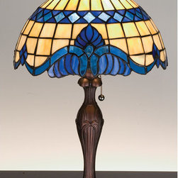 Meyda Tiffany - Meyda Tiffany 31201 Stained Glass / Tiffany Accent Table Lamp Baroque & - Copperfoil CollectionBaroque Accent Lamp (pictured right)1 Medium base bulb, 60w (max)