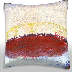 Custom Photo Factory - Impressionistic Painting Texture Pillow. - Impressionistic Painting Texture Pillow. Made in Los Angeles, CA, Set includes: One (1) pillow. Pattern: Full color dye sublimation art print. Cover closure: Concealed zipper. Cover materials: 100-percent polyester velour. Fill materials: Non-allergenic 100-percent polyester. Pillow shape: Square. Dimensions: 18.45 inches wide x 18.45 inches long. Care instructions: Machine washable
