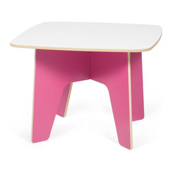 Quark Enterprises - Kids Table, Pink/White - This looks like a fresh take on a folding table. Having a kids table that can be easily assembled for crafts or snack time and then hidden it away at the end of the day is great for any family. And you won't have to pull out the tool box to get it all done.