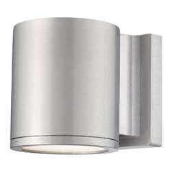 W.A.C. Lighting - W.A.C. Lighting WS-W2605-AL Tube Modern / Contemporary LED Outdoor Wall Sconce - Precise engineering using the latest energy efficient LED technology with a built-in reflector for superior optics: An appealing cylindrical profile perfect for accent and wall wash lighting.