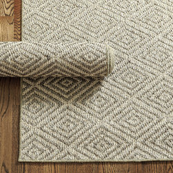 Ballard Designs - Diamond Sisal Rug - Latex backed for added durability. Rug pad recommended. We're seeing sophisticated geometrics everywhere from the Paris runway to our favorite designer showrooms. Our Diamond Sisal Rug brings the fashion-forward look home. Jacquard loomed in a high/low weave of gray and natural sisal.Diamond Sisal Rug features:. .