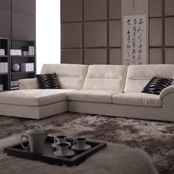 Lens Classic Microfiber Sectional Sofa - Bring a comfortable and timeless addition to your home furniture collection with this Lens Fabric Sectional Sofa.