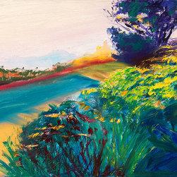 """Ann Rea - Bring home Marin, California with """"Lush Path"""" by Ann Rea, original oil painting - """"This lush path seeks the distant horizon that fades at dusk."""" -Ann Rea"""