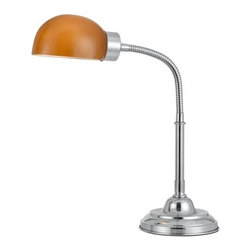 Cal Lighting - Cal Lighting BO-2161 Single Light 60 Watt Cartagena Desk Lamp in Chrome Finish - Cal Lighting BO-2161 Contemporary / Modern Single Light 60 Watt Cartagena Desk Lamp in Chrome FinishCal Lighting has become one of the premiere designer/manufacturer of quality lighting products in North America with manufacturing facilities located in China. Their mission is to provide the home furnishing and lighting industries with quality products at competitive prices, timely delivery and most of all, reliable customer support and service. Cal Lighting carries a very wide selection of products that include wrought iron, mission/mica, lifestyle, juvenile, traditional/classical, task/functional and track/display lighting. Each year, they strive to provide their customers with the newest and latest designs.Features: