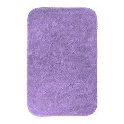 """Garland Rug - Bath Mat: Accent Rug: Glamor Purple 30"""" x 50"""" Bathroom - Shop for Flooring at The Home Depot. Beautify your bathroom and make your feet happy with Glamor Bath Rugs. These rugs will compliment any bathroom decor. The distinctive pinstripe pattern gives a modern, but yet traditional sleek design. Glamor is made with 100% Nylon for superior softness and colorfastness. Proudly made in the USA."""