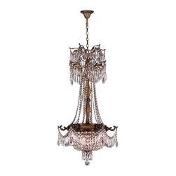 """Worldwide Lighting - Winchester 3 Light Antique Bronze Finish & Clear Crystal Chandelier 20"""" x 34"""" - This stunning 3-light Chandelier only uses the best quality material and workmanship ensuring a beautiful heirloom quality piece. Featuring a cast aluminum base in Antique Bronze finish and all over clear crystal embellishments made of finely cut premium grade 30% full lead crystal, this chandelier will give any room sparkle and glamour. Worldwide Lighting Corporation is a privately owned manufacturer of high quality crystal chandeliers, pendants, surface mounts, sconces and custom decorative lighting products for the residential, hospitality and commercial building markets. Our high quality crystals meet all standards of perfection, possessing lead oxide of 30% that is above industry standards and can be seen in prestigious homes, hotels, restaurants, casinos, and churches across the country. Our mission is to enhance your lighting needs with exceptional quality fixtures at a reasonable price."""