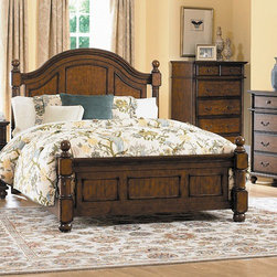 Woodbridge Home Designs - Langston Panel Bed - Features: -Updated take on classic country style.-Blends effortlessly into your cozy bedroom.-Distinct framing adds to the classic design of the bed.-Cannonball finials top the bed posts.-Langston Collection.-Powder Coated Finish: No.-Gloss Finish: No.-Finish: Rich pine.-Frame Material: Wood; Manufactured wood -Frame Material Details: Poplar and MDF..-Solid Wood Construction: No.-Upholstered: No.-Non Toxic: Yes.-Scratch Resistant: No.-Joinery Type: Groove.-Mattress Included: No.-Recommended Mattress Height: 8.-Box Spring Required: Yes -Boxspring Included: No.-Recommended Boxspring Height: 6.-Boxspring Profile Maximum: 8.-Boxspring Profile Minimum: 6..-Headboard Storage: No.-Footboard Storage: No.-Underbed Storage: No.-Slats Required: Yes -Number of Slats Required: 3.-Slats Included: Yes..-Center Support Legs: Yes.-Adjustable Headboard Height: Yes.-Adjustable Footboard Height: No.-Wingback: No.-Trundle Bed Included: No.-Attached Nightstand: No.-Cable Management: No.-Built in Outlets: No.-Lighted Headboard: No.-Finished Back: No.-Reclaimed Wood: No.-Number of Center Support Legs: 2.-Distressed: No.-Bed Rails Included: Yes.-Collection: Langston.-Eco-Friendly: Yes.-Recycled Content: Yes -Total Recycled Content (Percentage): 90%.-Post-Consumer Content (Percentage): 30%.-Remanufactured/Refurbished : No..-Wood Moldings: No.-Canopy Frame: No.-Hidden Storage: No.-Jewelry Compartment: No.-Weight Capacity: 550.-Swatch Available: No.-Commercial Use: No.Specifications: -FSC Certified: No.-EPP Compliant: Yes.-CPSIA or CPSC Compliant: No.-CARB Compliant: Yes.-JPMA Certified: No.-ASTM Certified: No.-ISTA 3A Certified: No.-PEFC Certified: No.-General Conformity Certificate: No.-Green Guard Certified: No.Dimensions: -Overall Height - Top to Bottom (Size: California King): 57.75.-Overall Height - Top to Bottom (Size: King): 57.75.-Overall Height - Top to Bottom (Size: Queen): 57.75.-Overall Width - Side to Side (Size: California King): 76.-Overall Width - Side to Side (Size: King): 80.-Overall Width - Side to Side (Size: Queen): 64.-Overall Depth - Front to Back (Size: King): 84.-Overall Depth - Front to Back (Size: Queen): 84.-Overall Product Weight (Size: Queen): 119.9.-Headboard Dimensions Height (Size: California King): 57.75.-Headboard Dimensions Height (Size: King): 57.75.-Headboard Dimensions Height (Size: Queen): 57.75.-Headboard Width Side to Side (Size: California King): 76.-Headboard Width Side to Side (Size: King): 80.-Headboard Width Side to Side (Size: Queen): 64.-Headboard Depth Front to Back (Size: California King): 4.-Headboard Depth Front to Back (Size: King): 4.-Headboard Depth Front to Back (Size: Queen): 4.-Footboard Height (Size: California King): 28.-Footboard Height (Size: King): 28.-Footboard Height (Size: Queen): 28.-Footboard Width - Side to Side (Size: California King): 76.-Footboard Width - Side to Side (Size: King): 80.-Footboard Width - Side to Side (Size: Queen): 64.-Footboard Depth - Front to Back (Size: California King): 4.-Footboard Depth - Front to Back (Size: King): 4.-Footboard Depth - Front to Back (Size: Queen): 4.-Top of Headboard to Bedframe (Size: California King): 45.75.-Top of Headboard to Bedframe (Size: King): 45.75.-Top of Headboard to Bedframe (Size